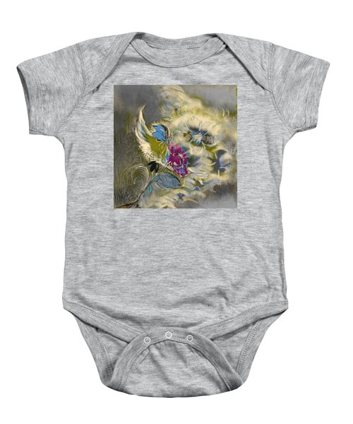 Flowers In A Storm  Baby Onesie