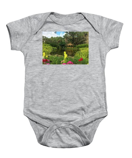 Flowers To Gazebo By The Lake Baby Onesie