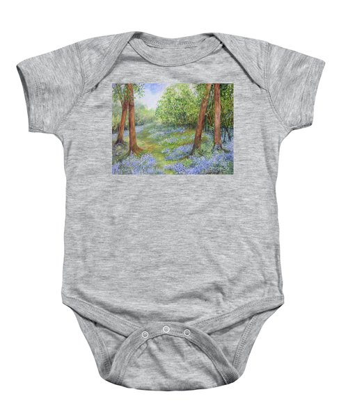 Follow The Bluebells Baby Onesie