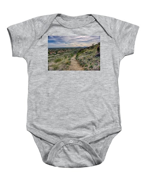 Following The Desert Path Baby Onesie
