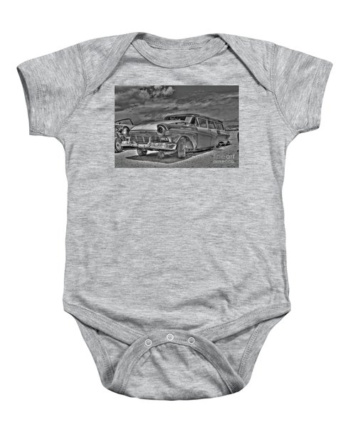 Ford Country Squire Wagon - Bw Baby Onesie