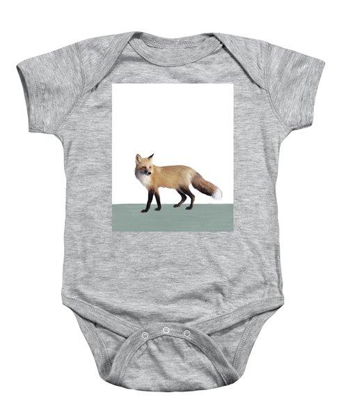 Fox On Sage Baby Onesie