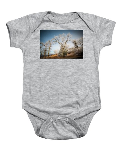 Frost On The Mountain Baby Onesie