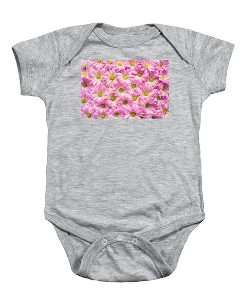Full Of Pink Flowers Baby Onesie