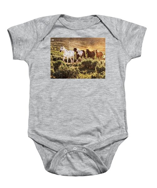 Galloping Down The Mountain Baby Onesie