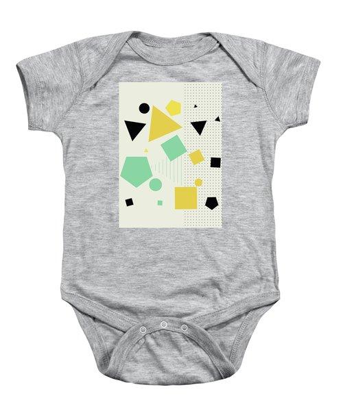 Geometric Painting 7  Baby Onesie