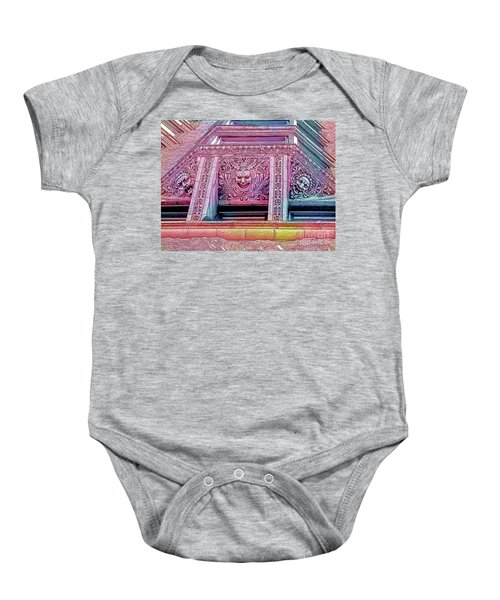Ghoulish Gargoyles Abstract Baby Onesie