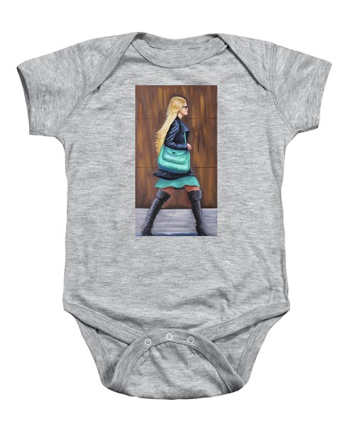 Girl Walking Baby Onesie