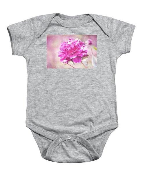 Glorious Pink Peony Baby Onesie