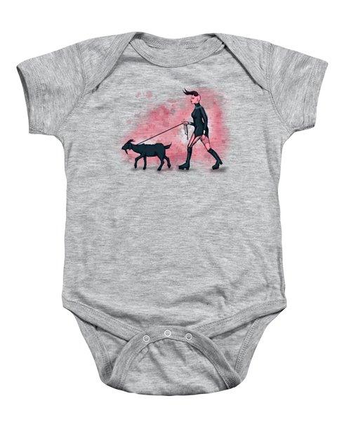 Goat Walk Baby Onesie