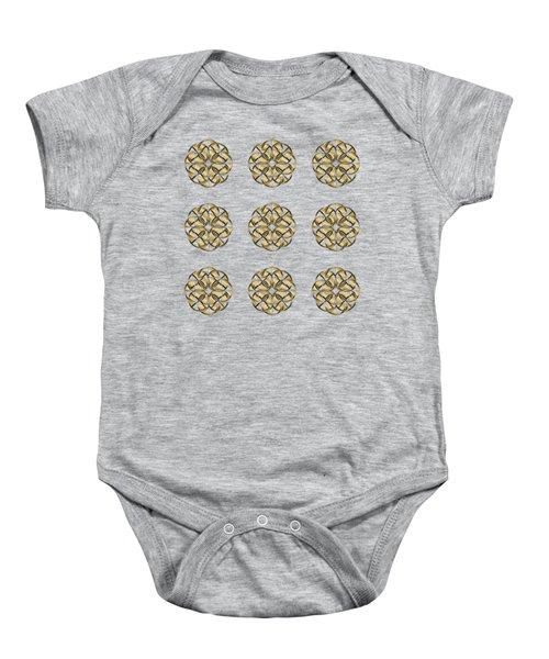 Gold Circles 1 Baby Onesie
