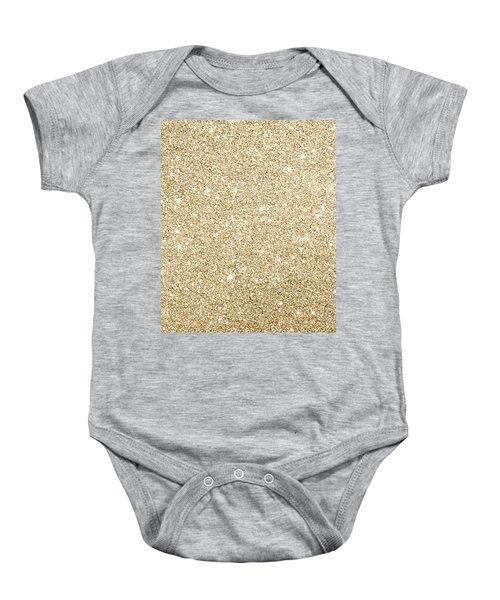 Gold Glitter Baby Onesie