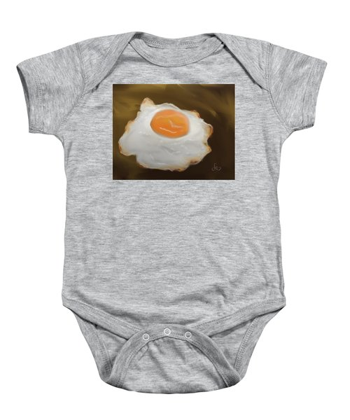 Baby Onesie featuring the pastel Golden Fried Egg by Fe Jones