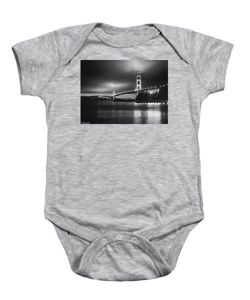 Golden Gate Bridge B/w Baby Onesie