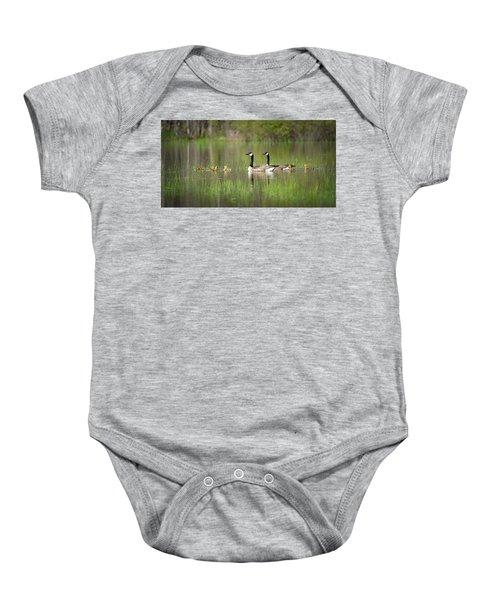 Goose Family #5 Baby Onesie