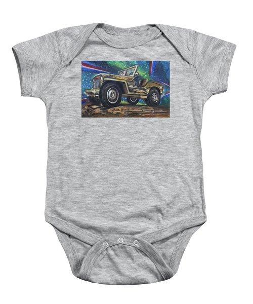 Grandpa Willie's Willys Jeep Baby Onesie