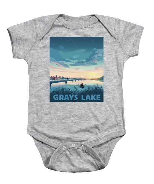 Grays Lake Baby Onesie