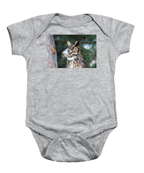 Great Horned Owl 5151801 Baby Onesie