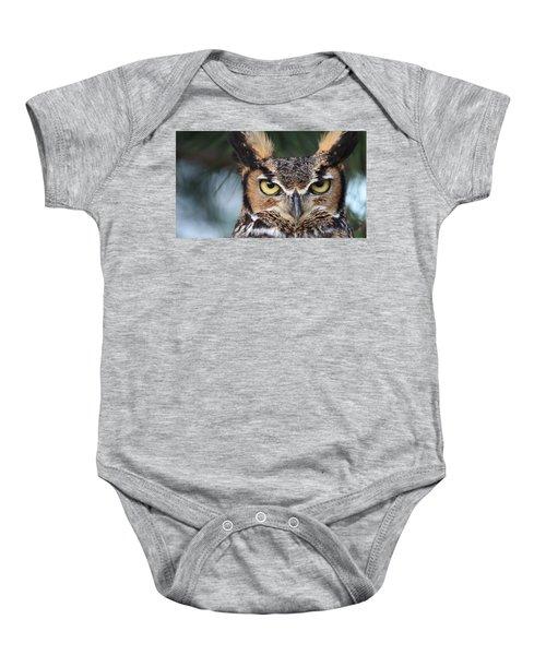 Great Horned Owl Eyes 51518 Baby Onesie