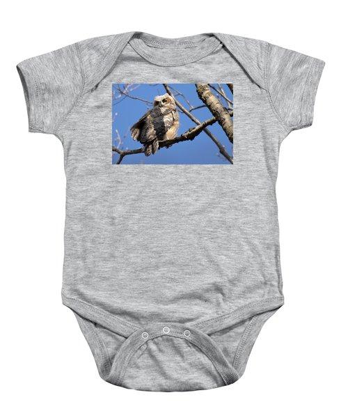 Great Horned Owlet 42915 Baby Onesie