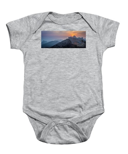 Great Wall Dusk Panorama Baby Onesie