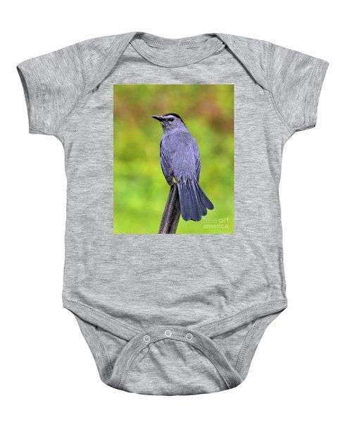 Grey Catbird Baby Onesie