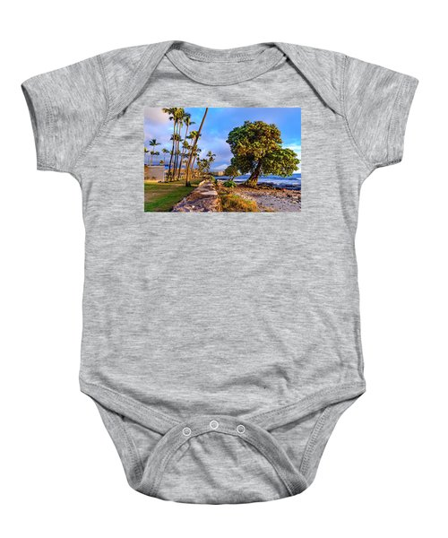 Baby Onesie featuring the photograph Hale Halawai Park by John Bauer