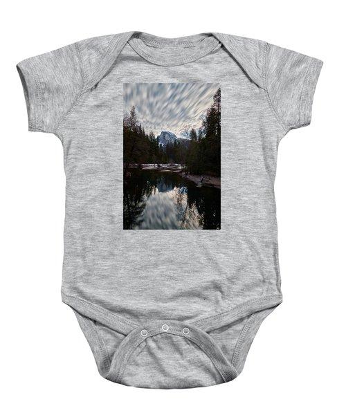 Half Dome Reflection Baby Onesie