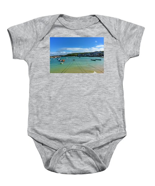 Harbour To Porthminster St Ives Cornwall Baby Onesie