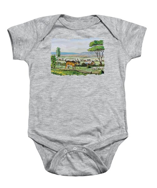 He-goat And Homes Baby Onesie