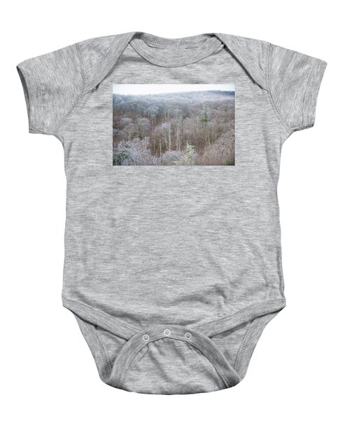 Hoarfrost In The Tree Tops Baby Onesie