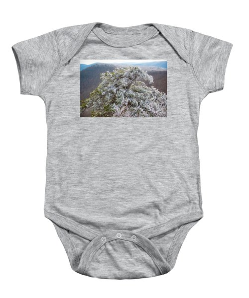 Hoarfrost On Trees Baby Onesie