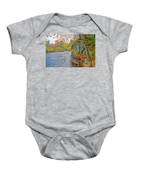 Hogback Dam Pool Baby Onesie