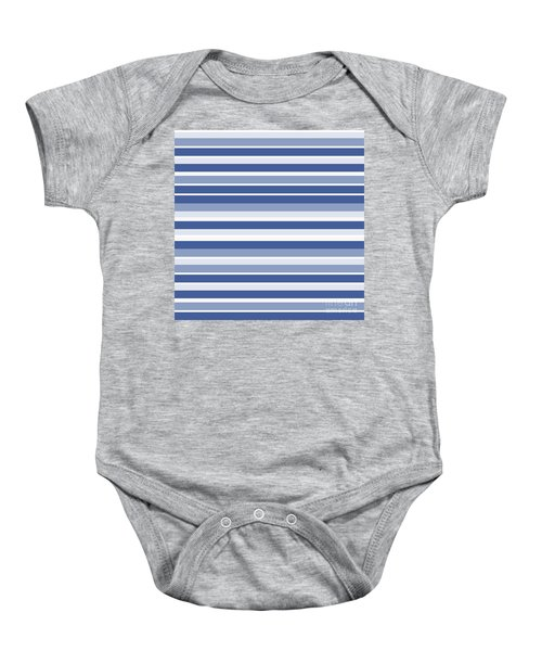 Horizontal Lines Background - Dde607 Baby Onesie