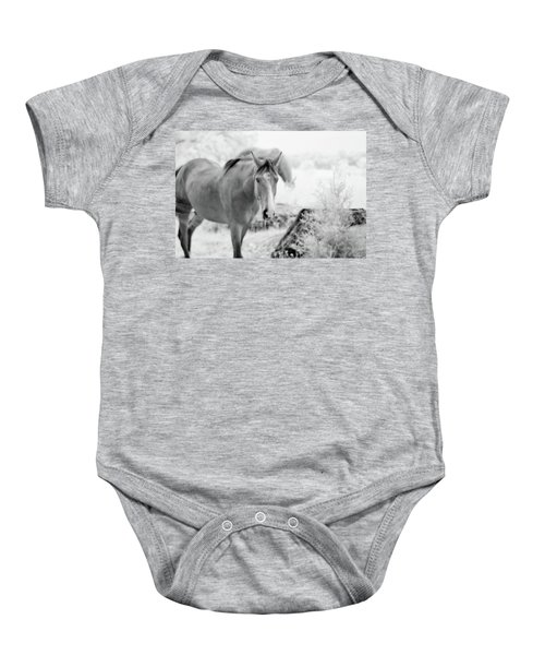 Horse In Infrared Baby Onesie
