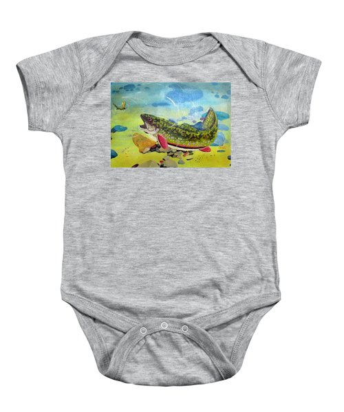 Hungry Trout Baby Onesie