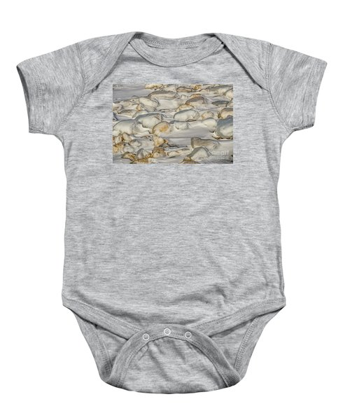 Ice Covered Snow And Sand Baby Onesie