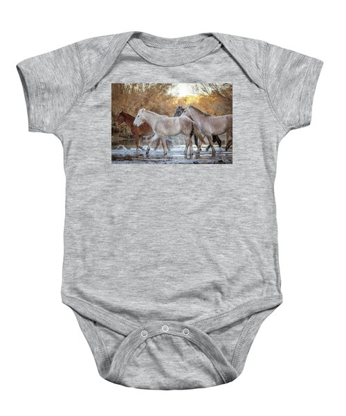In The River Baby Onesie
