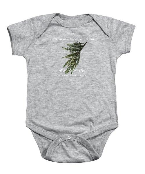 Incense Cedar - White Text Baby Onesie