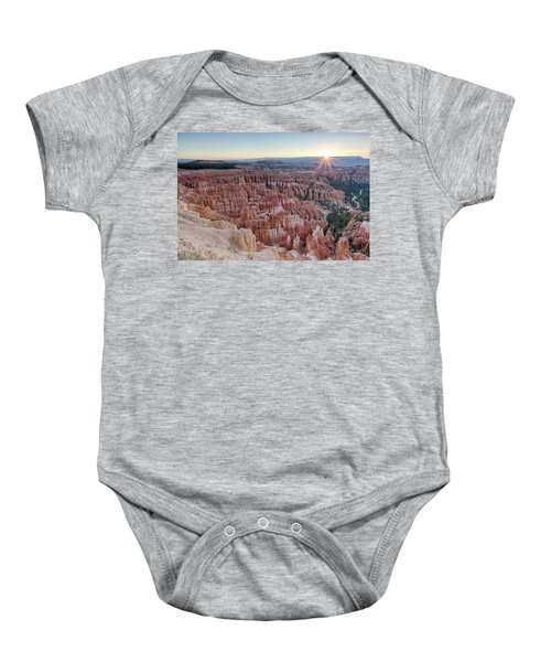 Inspiration Point Sunrise Bryce Canyon National Park Summer Solstice Baby Onesie