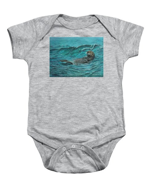 It's My Otter Day Off.....sea Otter Baby Onesie