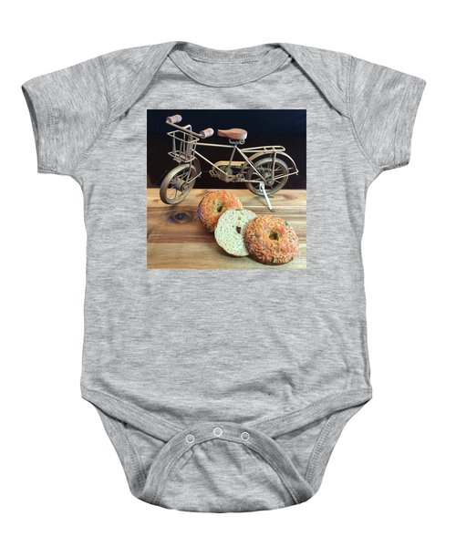 Jalapeno Cheddar Sourdough Bagels Baby Onesie