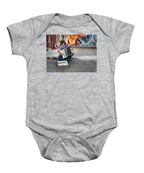 Kid Playing Accordeon Baby Onesie