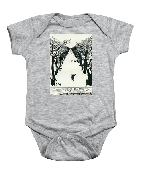 The Cat That Walked By Himself Baby Onesie