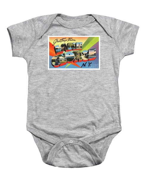 Lake George Greetings Baby Onesie
