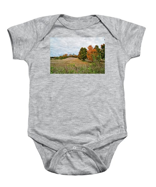 Landscape In The Fall Baby Onesie