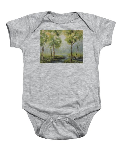 Landscape Of The Great Swamp Of New Jersey With Pond Baby Onesie