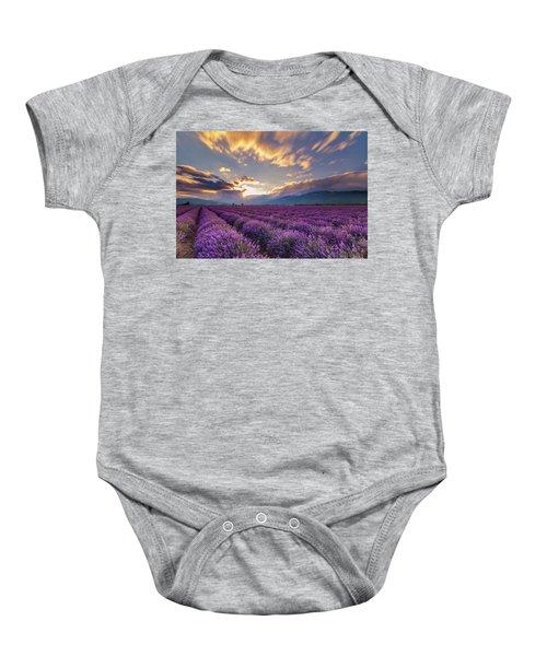 Lavender Sun Baby Onesie