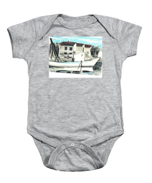 Le Barche Galleggianti Nel Mare Adriatico  Baby Onesie