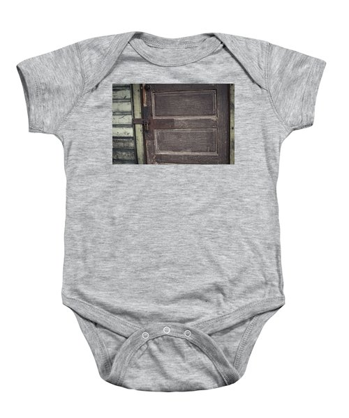 Leather Door Baby Onesie